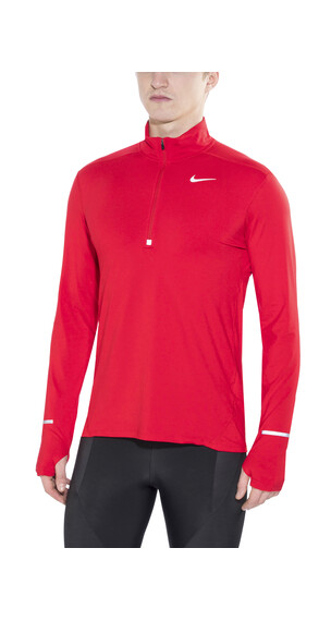 Nike Dri-FIT Element Half-Zip hardloopshirt Heren rood